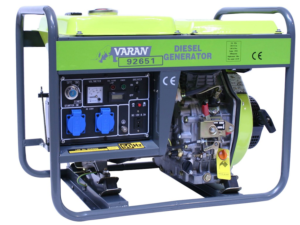 Motogenerator de curent alternativ pe Motorina  3,3 Kva DG 3300 E  1