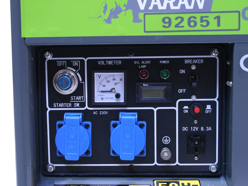 Motogenerator de curent alternativ pe Motorina  3,3 Kva DG 3300 E  2