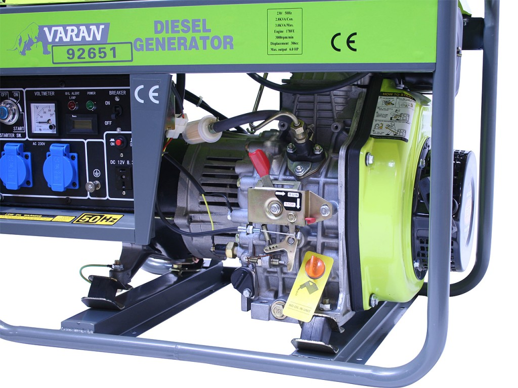 Motogenerator de curent alternativ pe Motorina  3,3 Kva DG 3300 E  3