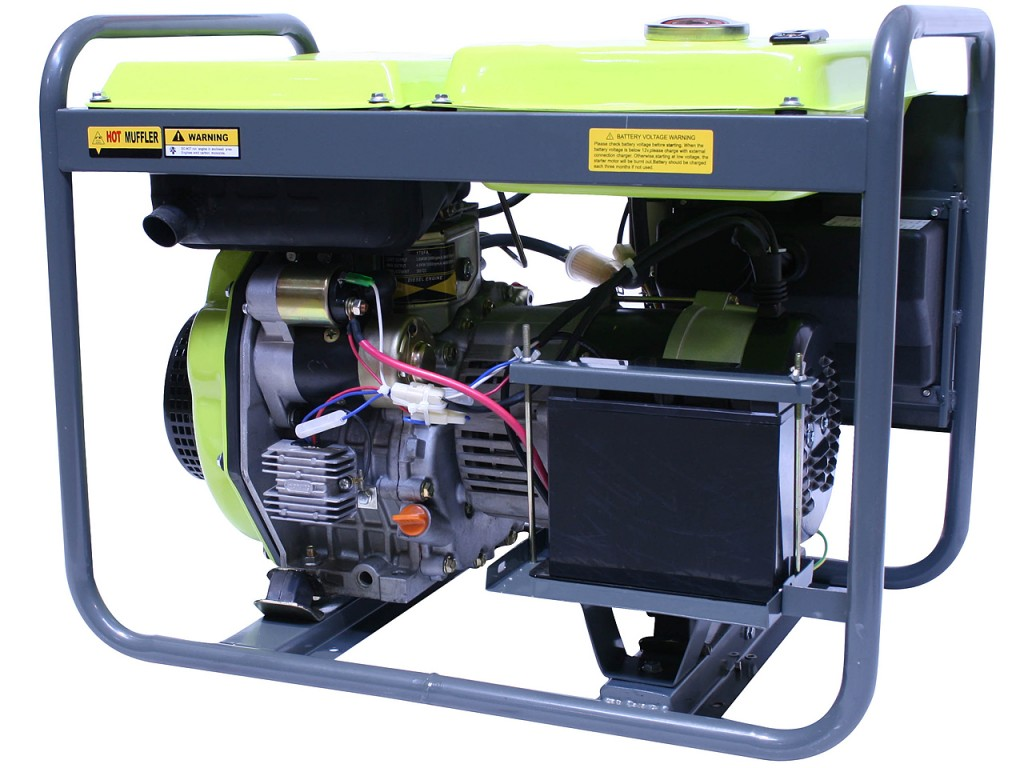 Motogenerator de curent alternativ pe Motorina  3,3 Kva DG 3300 E  4